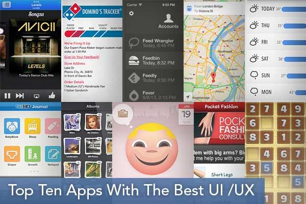 Top Ten Apps with the Best UI /UX - Mobinius